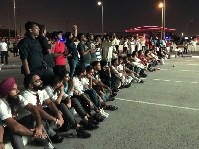 Fans von Indien durften nicht ins Stadion