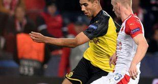 Hakimi trifft doppelt - BVB gewinnt bei Slavia Prag