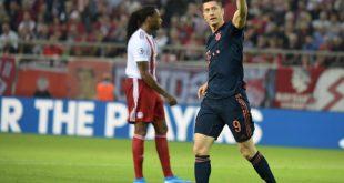 Robert Lewandowski trifft gegen Olympiakos doppelt