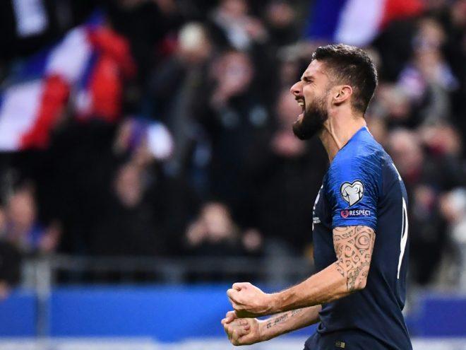 Olivier Giroud erzielte den Siegtreffer für Frankreich