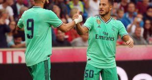 Real läuft gegen Espanyol in grünen Trikots auf