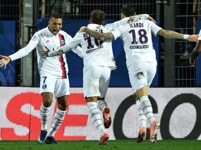 Mbappe, Neymar und Icardi (v.l.) treffen für Paris