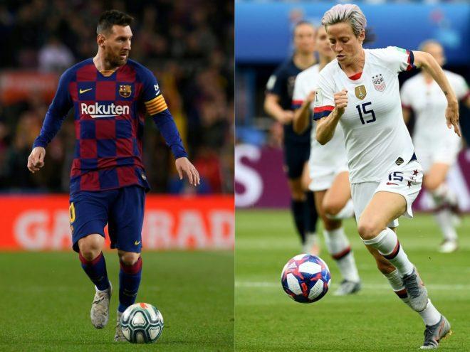 Lionel Messi und Megan Rapinoe gewinnen Ballon d'Or