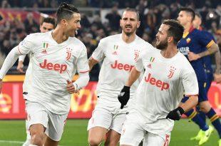 Cristiano Ronaldo (l.) einmal mehr Matchwinner für Juve