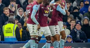 Aston Villa feiert den Last-Minute-Siegtreffer