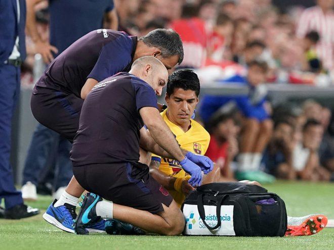 Luis Suarez wird Barca lange fehlen