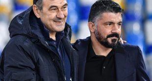Gattuso (r.) und Neapel schlagen Maurizio Sarris Juve