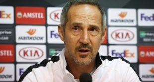 Adi Hütter trifft mit der Eintracht auf den FC Salzburg