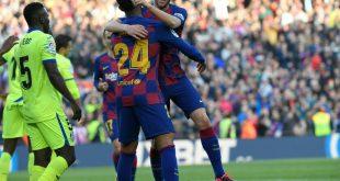Der FC Barcelona bejubelt einen 2:1-Erfolg gegen Getafe