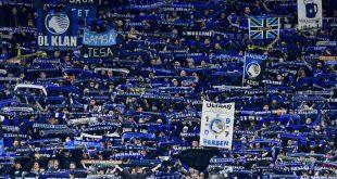 Volle Tribünen beim CL-Spiel Bergamo gegen Valencia