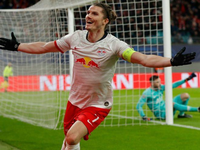 Doppelpack Sabitzer: Leipzig erreicht das Viertelfinale