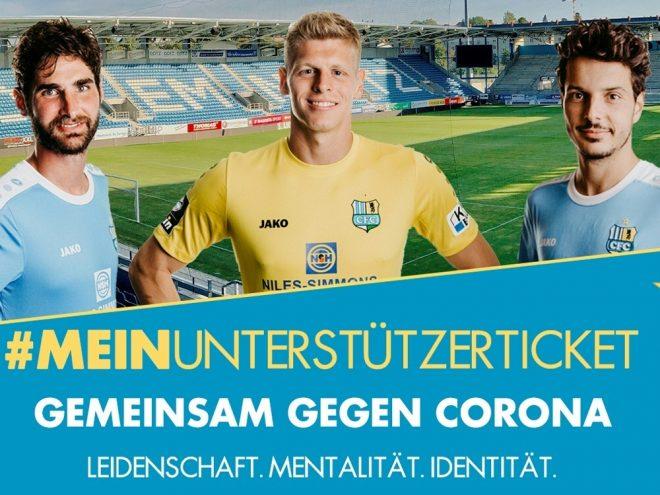 Der Chemnitzer FC verkauft Unterstützer-Tickets