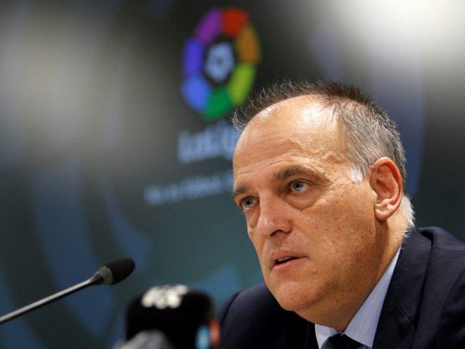 Liga-Präsident Tebas nennt mögliche Termine für Neustart