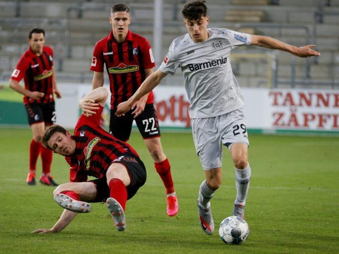 Havertz erzielt den Siegtreffer für Leverkusen