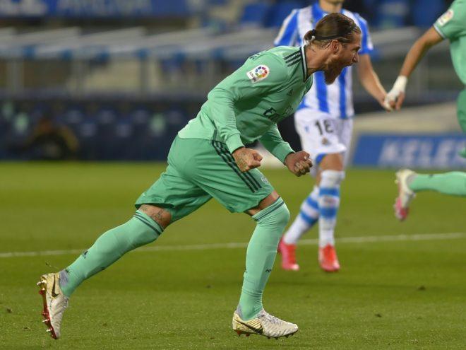 Sergio Ramos bejubelt seinen Führungstreffer