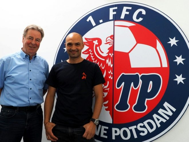 Ex-Herthaner Sofian Chahed (r.) wird Trainer bei Turbine