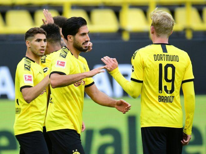 Emre Can (m.) erzielte den Siegtreffer für den BVB