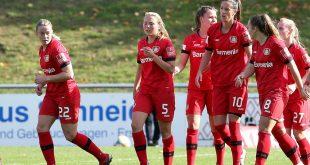 Die Frauen von Bayer Leverkusen stehen im Halbfinale