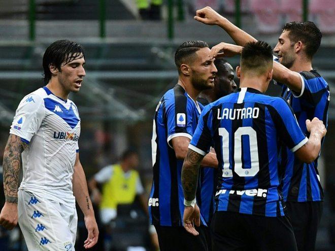 Inter Mailand gewann souverän mit 6:0 gegen Brescia