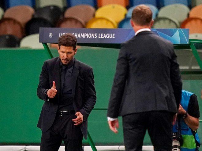 Diego Simeone gratuliert Julian Nagelsmann zum Sieg