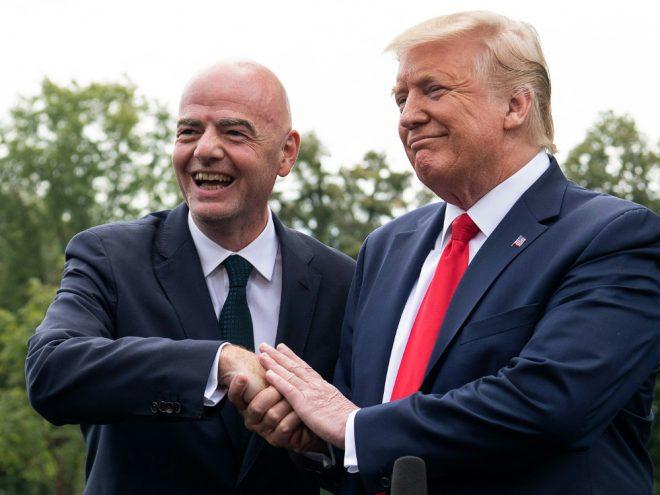 Gianni Infantino besuchte US-Präsident Donald Trump