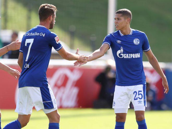 Der FC Schalke organisierte ein internes Testspiel
