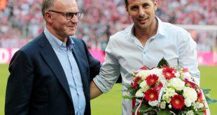 Mit dem FC Bayern gewann Pizarro sechs Meisterschaften