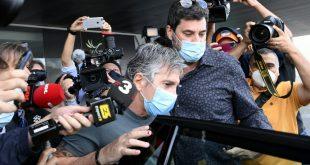 Jorge Messi (M.) nach seiner Ankunft in Barcelona