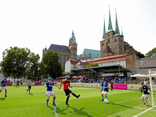 Blindenfußball: Meister Marburg siegt zum Auftakt