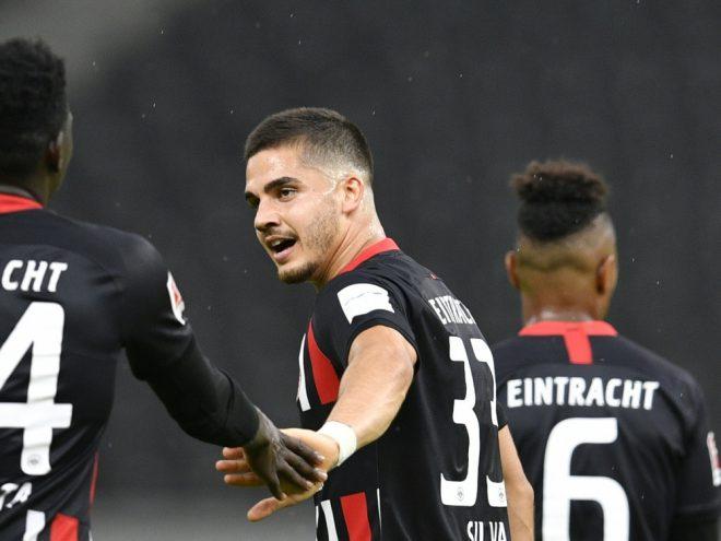 Frankfurts Stürmer Andre Silva traf zum 1:0