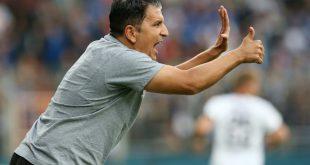 Trainer Kenan Kocak und Hannover 96 gewinnen 2:0