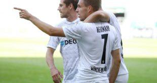 DFB-Pokal: Patrick Herrmann (Nr. 7) trifft doppelt