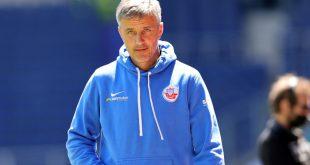 Jens Härtel ist seit 2019 Trainer von Hansa Rostock