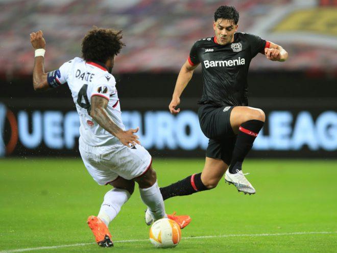 Nadiem Amiri (r.) eröffnete den Leverkusener Torreigen