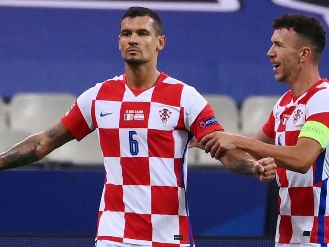 Kroatien gegen Frankreich mit Fans