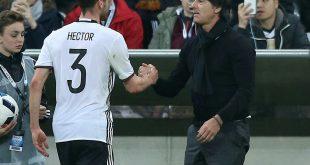 Hector (l.) beendete seine Nationalmannschaftskarriere