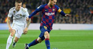 Kroos (l.) trifft mit Real am Samstag auf Messis Barca