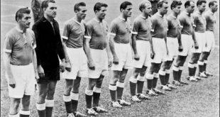 Kapitän Fritz Walter und die Nationalmannschaft  1954