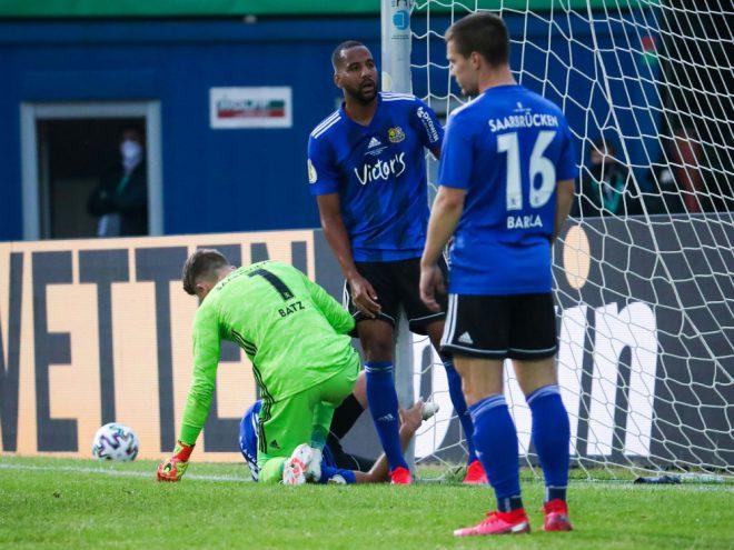 Der 1. FC Saarbrücken unterliegt dem SC Verl 1:2