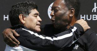 Auch Pele (r.) trauert um seinen Freund Diego Maradona