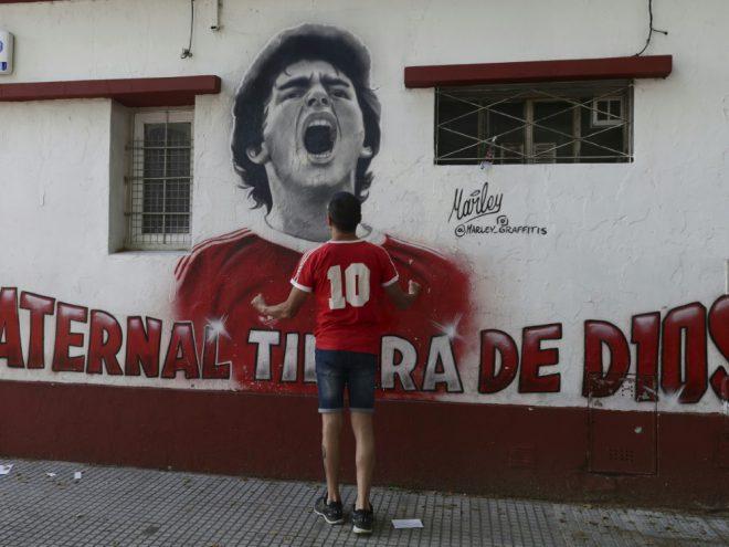 Maradonas Sohn trauert um seinen verstorbenen Vater