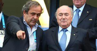 Platini (l.) und Blatter