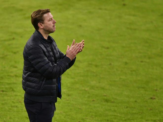 Werder-Trainer Kohfeldt beim Spiel gegen den FC Bayern