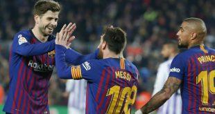 Boateng (r.) war beeindruckt von Messis Fähigkeiten