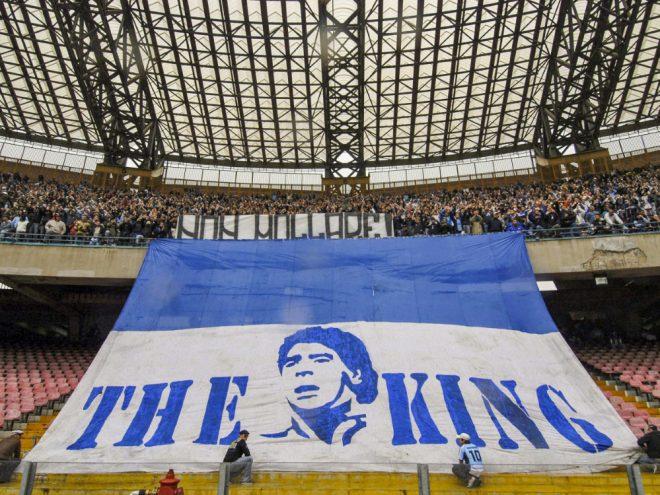 Maradona spielte von 1884 bis 1991 für Neapel