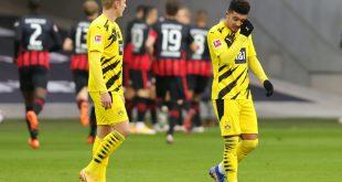 Borussia Dortmund spielt Unentschieden in Frankfurt