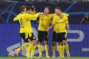 Guerreiro (r.) trifft - Dortmund steht im Achtelfinale