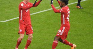Lewandowski (l.) erzielte den Führungstreffer der Bayern