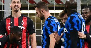 Ibrahimovic (l.) und Lukaku geraten aneinander