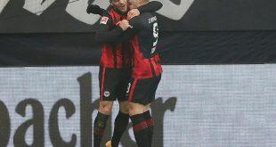 Jovic (r.) erzielte bei seiner Rückkehr zwei Tore